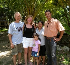 Photograph of Larry, Linda and the retreats staff