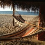 Two beach hammocks to watch the ocean from